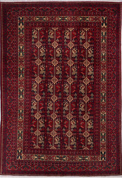 "Khan Mohammadi Multicolor Hand Knotted 6'9"" X 9'8""  Area Rug 700-143465"
