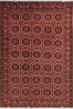 "Khan Mohammadi Multicolor Hand Knotted 6'9"" X 9'8""  Area Rug 700-143470"