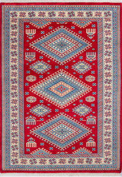 "Pak-Persian Red Hand Knotted 4'9"" X 6'7""  Area Rug 700-143491"