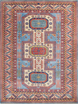"Pak-Persian Blue Hand Knotted 5'4"" X 7'0""  Area Rug 700-143492"