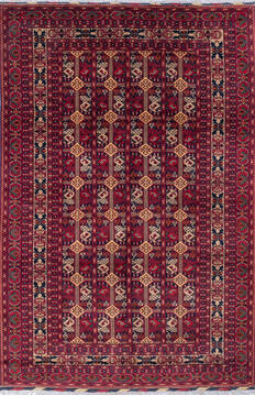 "Khan Mohammadi Multicolor Hand Knotted 6'11"" X 10'6""  Area Rug 700-143516"
