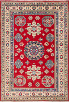 "Kazak Red Hand Knotted 6'8"" X 9'10""  Area Rug 700-143518"