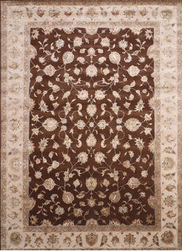 "Jaipur Brown Hand Knotted 10'0"" X 14'3""  Area Rug 905-143542"