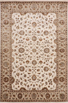 "Jaipur White Hand Knotted 6'0"" X 9'1""  Area Rug 905-143544"