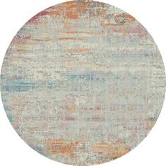 "Dynamic MOOD White Round 5'0"" X 5'0"" Area Rug MZ58456130 801-144122"