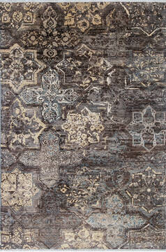 "Modern Grey Hand Knotted 5'5"" X 8'0""  Area Rug 700-144877"