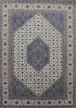 Indian Bidjar Beige Rectangle 5x8 ft Wool Carpet 144927