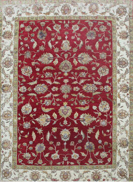 "Kashan Red Hand Knotted 6'0"" X 8'8""  Area Rug 902-144932"