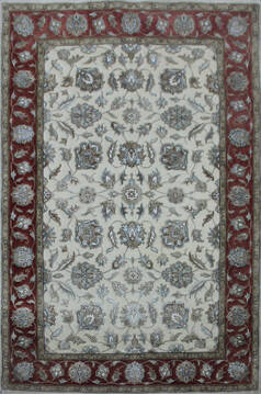 "Kashan Red Hand Knotted 4'0"" X 6'0""  Area Rug 902-144935"