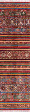 Afghan Chobi Red Runner 10 to 12 ft Wool Carpet 144976