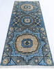 Chobi Blue Runner Hand Knotted 28 X 64  Area Rug 700-144980 Thumb 1
