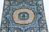 Chobi Blue Runner Hand Knotted 28 X 64  Area Rug 700-144980 Thumb 2