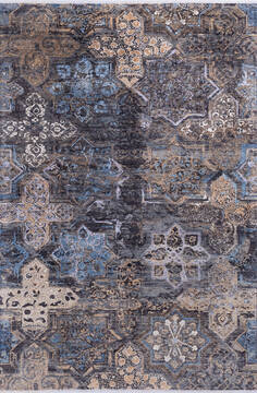 "Modern Grey Hand Knotted 6'0"" X 9'0""  Area Rug 700-144999"