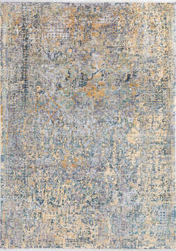 "Modern Grey Hand Knotted 5'7"" X 7'10""  Area Rug 700-145002"