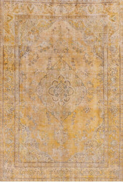 "Overdyed Beige Hand Knotted 6'4"" X 9'4""  Area Rug 700-145008"
