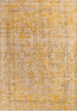 "Overdyed Beige Hand Knotted 6'3"" X 9'0""  Area Rug 700-145009"