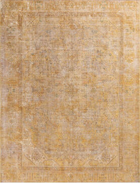 "Overdyed Beige Hand Knotted 8'0"" X 10'4""  Area Rug 700-145010"