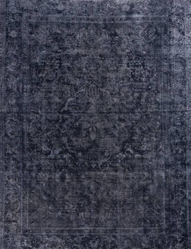 "Overdyed Black Hand Knotted 8'0"" X 10'3""  Area Rug 700-145011"