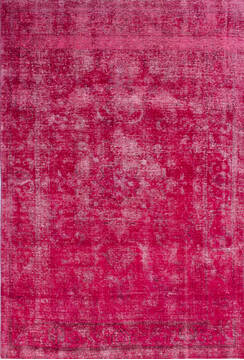 "Overdyed Red Hand Knotted 6'4"" X 9'4""  Area Rug 700-145015"