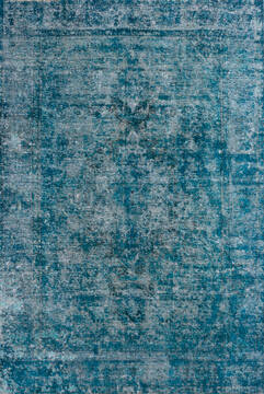 "Overdyed Green Hand Knotted 6'5"" X 9'7""  Area Rug 700-145016"