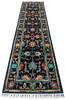 Chobi Black Runner Hand Knotted 28 X 99  Area Rug 700-145021 Thumb 1