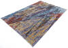 Modern Multicolor Hand Knotted 68 X 99  Area Rug 700-145025 Thumb 2