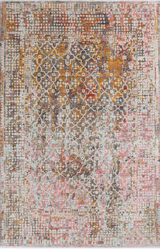 "Modern Brown Hand Knotted 6'6"" X 10'0""  Area Rug 700-145029"