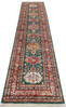 Kazak Green Runner Hand Knotted 27 X 104  Area Rug 700-145055 Thumb 1