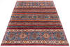 Chobi Red Hand Knotted 51 X 71  Area Rug 700-145072 Thumb 1
