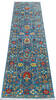Chobi Blue Runner Hand Knotted 210 X 101  Area Rug 700-145105 Thumb 1