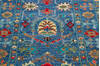 Chobi Blue Runner Hand Knotted 210 X 101  Area Rug 700-145106 Thumb 3