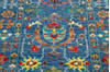 Chobi Blue Runner Hand Knotted 210 X 101  Area Rug 700-145106 Thumb 4