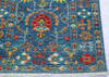Chobi Blue Runner Hand Knotted 210 X 101  Area Rug 700-145106 Thumb 5