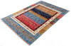 Chobi Multicolor Hand Knotted 56 X 82  Area Rug 700-145107 Thumb 2