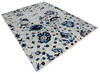 Modern-Contemporary Blue Hand Knotted 90 X 115  Area Rug 904-145133 Thumb 1