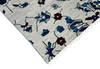 Modern-Contemporary Blue Hand Knotted 90 X 115  Area Rug 904-145133 Thumb 2