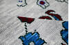 Modern-Contemporary Blue Hand Knotted 90 X 115  Area Rug 904-145133 Thumb 8