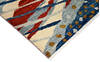 Modern-Contemporary Multicolor Hand Knotted 80 X 100  Area Rug 904-145140 Thumb 2