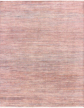 "Modern-Contemporary Multicolor Hand Knotted 8'0"" X 9'8""  Area Rug 904-145142"