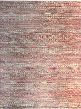 "Modern-Contemporary Multicolor Hand Knotted 7'10"" X 10'2""  Area Rug 904-145143"