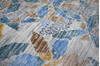 Modern-Contemporary Multicolor Hand Knotted 79 X 99  Area Rug 904-145146 Thumb 8