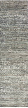 "Modern-Contemporary Multicolor Runner Hand Knotted 2'6"" X 9'11""  Area Rug 904-145162"