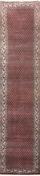 "Persian Red Runner Hand Knotted 2'6"" X 11'0""  Area Rug 902-145184"
