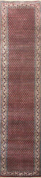 "Persian Red Runner Hand Knotted 2'6"" X 20'0""  Area Rug 902-145185"