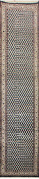 "Persian Blue Runner Hand Knotted 2'2"" X 11'0""  Area Rug 902-145187"
