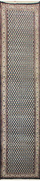 "Persian Blue Runner Hand Knotted 2'6"" X 20'0""  Area Rug 902-145189"