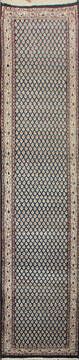 "Persian Blue Runner Hand Knotted 2'6"" X 8'0""  Area Rug 902-145190"