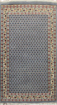 "Persian Grey Hand Knotted 3'0"" X 5'0""  Area Rug 902-145191"