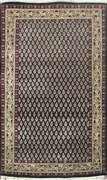 "Persian Black Hand Knotted 3'0"" X 5'0""  Area Rug 902-145192"