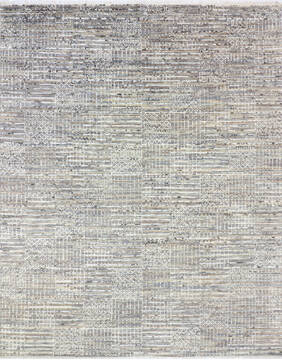 "Modern-Contemporary Multicolor Hand Knotted 9'3"" X 12'2""  Area Rug 904-145194"